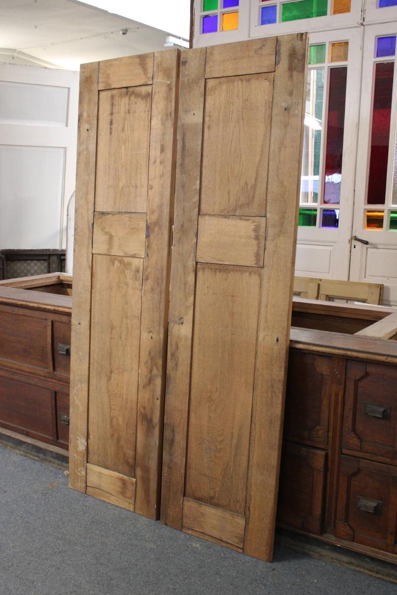 eichen t ren ein angebot aus der rubrik schrankt ren von florian langenbeck historische. Black Bedroom Furniture Sets. Home Design Ideas