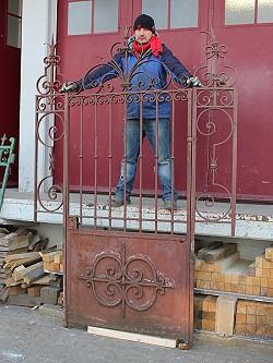Ein gartentor mit seitenteilen im bestzustand 113 cm - Antikes gartentor ...
