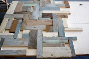 Tischplattenmaterial Vintage-Holzpuzzle
